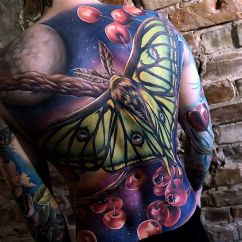 spanish tribal tattoos moon moth mens back best design ideas