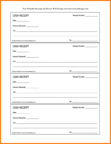 receipt book template free printable receipt resume trakore document templates