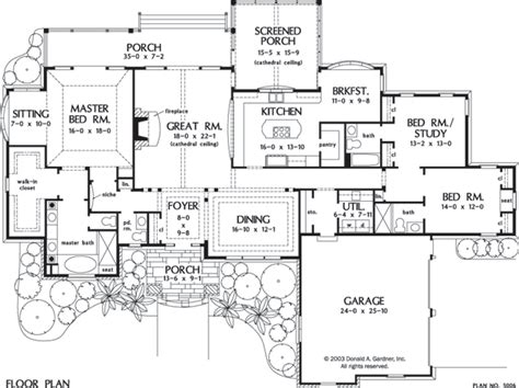 floor plans for large families house plan the spencer hall by donald a gardner architects