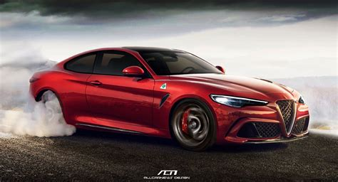 Alfa Romeo Coupe by Alfa Romeo Giulia Rendered As 641 Hp Coupe Bruiser Carscoops