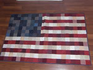 a bit biased american flag quilt