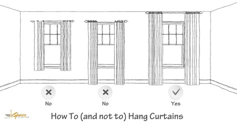 how high to mount curtain rod design tips tricks 4 how to hang curtains a space