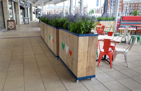 Barrier Planters by Parasols Caf 233 Barriers Planters Spectrum Sg