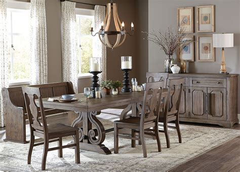 extendable dining sets toulon brown rectangular extendable dining room set from