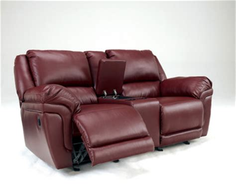 dual glider reclining loveseat with console magician durablend dual glider recliner loveseat w