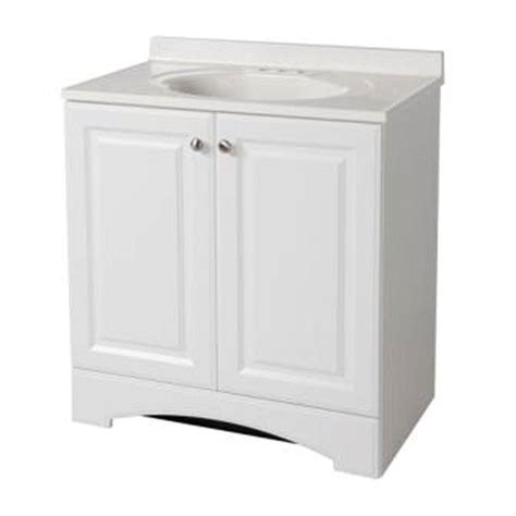 glacier bay bathroom vanity glacier bay 30 1 2 in w bath vanity in white with vanity