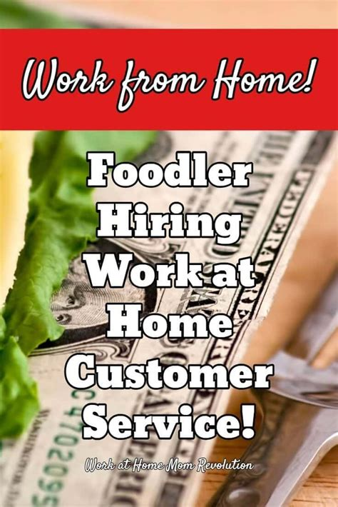 work at home customer service with foodler work at