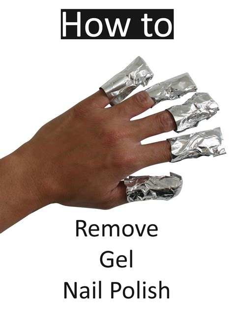 how to get rid of gel nail at home step by step