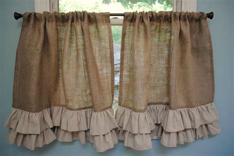 Burlap Drapes And Curtains Best 25 Burlap Kitchen Curtains Ideas On Pinterest Front Door Curtains Burlap Curtains And