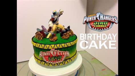 power rangers dino charge personalized birthday cake idea  tutorial gateau danniversaire