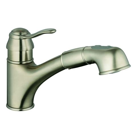 kitchen faucets with sprayer in grohe ashford single handle pull out sprayer kitchen