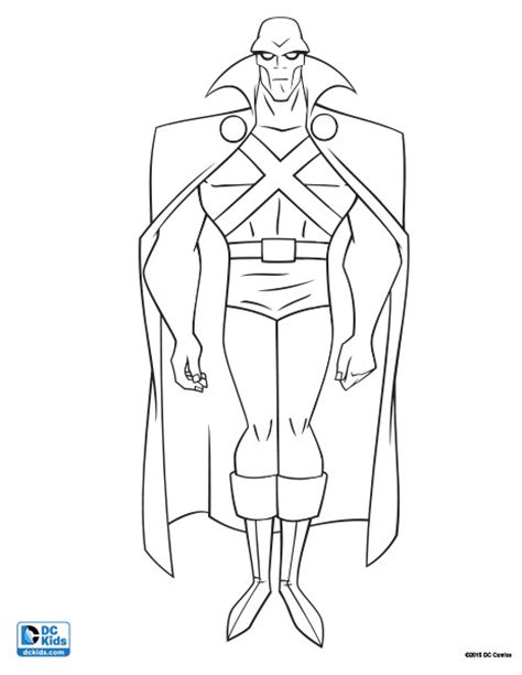 printable coloring pages of martian manhunter printable