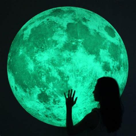 Wallpaper Sticker Wps311 Soft Green Walpaper Stiker Dinding large clair de lune glow moonlight wall stickers