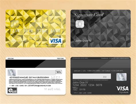 bank card credit card layout plus with env chip psd