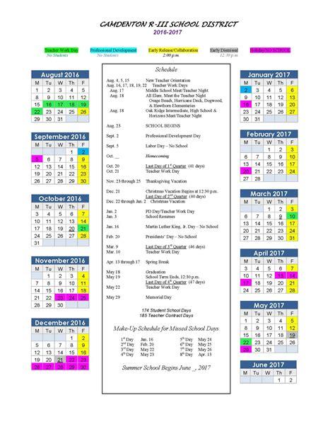 Elementary School Calendar Elementary Calendar Calendar Template 2016