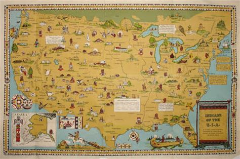 america map of indian tribes george glazer gallery antique maps pictorial map of