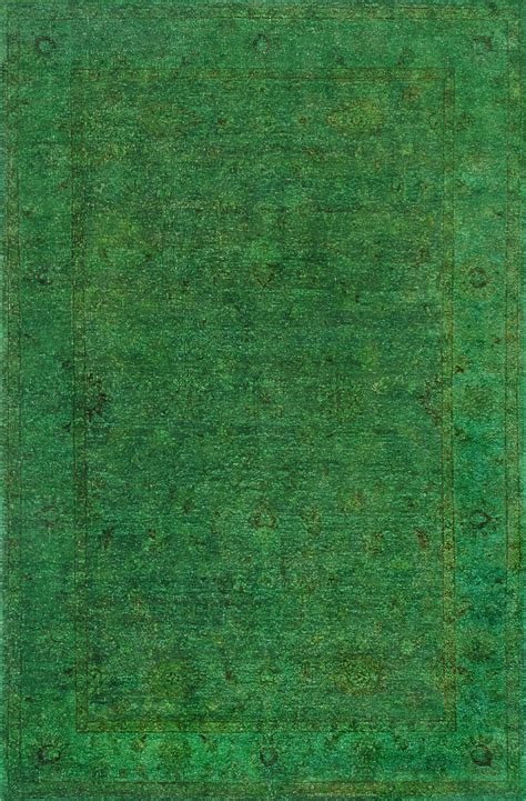 Rugsville Overdyed Forest Green Rug 11057 Rugsville Co Uk Green Rug