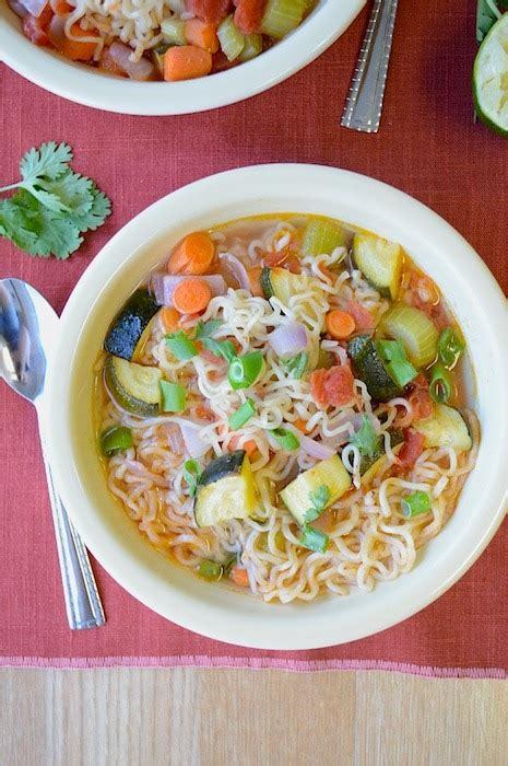 ramen noodle soup recipes vegetable frugal crafty home hop 46