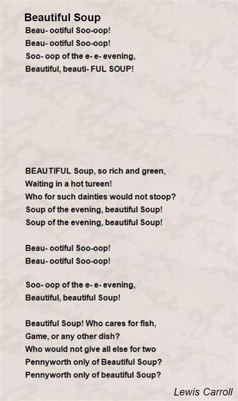 beatiful soup beautiful soup poem by lewis carroll poem