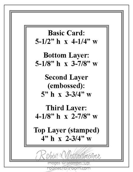 Handmade Card Sizes - 50 best images about card measurements on