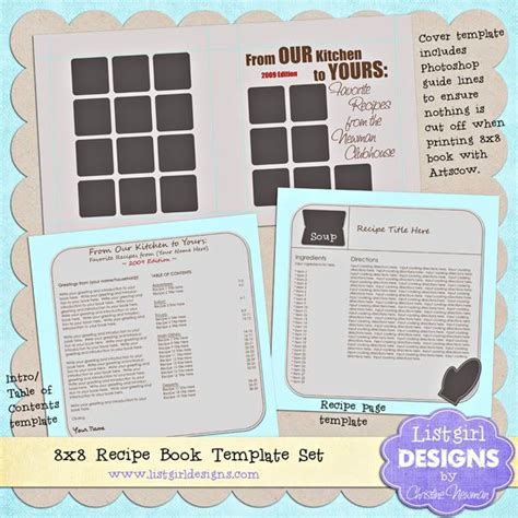 wonderful free recipe book template by christine newman of