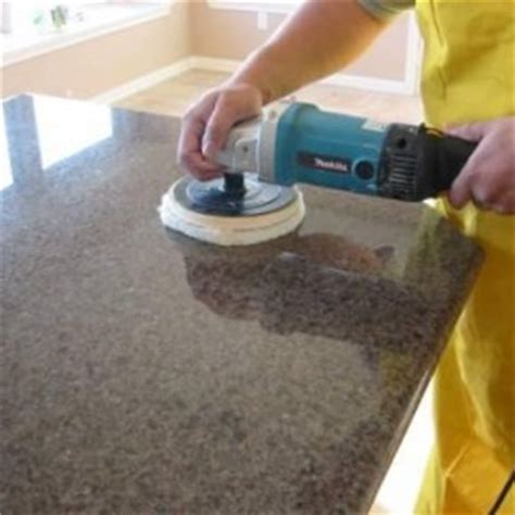 Polishing Granite Countertop surface care trevino flooring