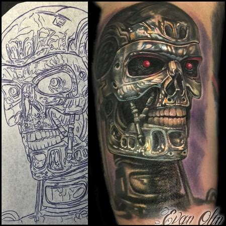 terminator tattoo the map evan olin tattoos page 1