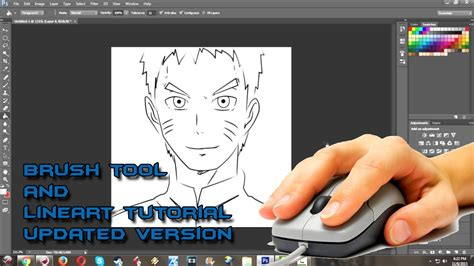 how to make doodle using adobe photoshop how to draw anime and setup brush for linework in