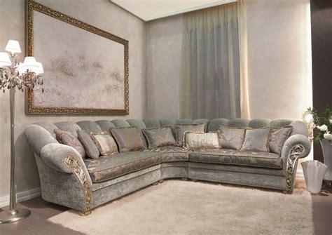 divani ad l divano angolare classico bracciolo con intaglio a mano
