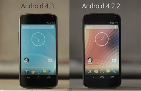 android version 4 4 2 android 4 3 vs android 4 2 2