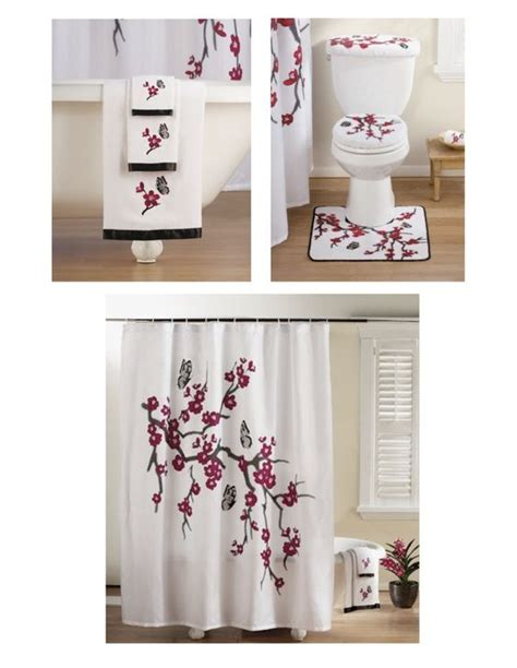 asian shower curtain sets bath towel sets bathroom sets and towel set on pinterest