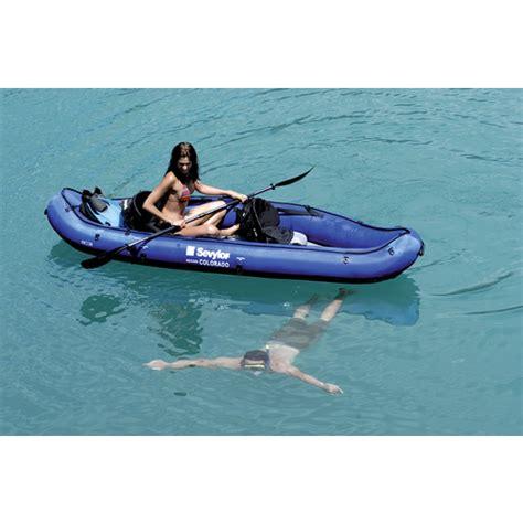 kayak boats 2 seater sevylor colorado two seater inflatable kayak sheridan marine