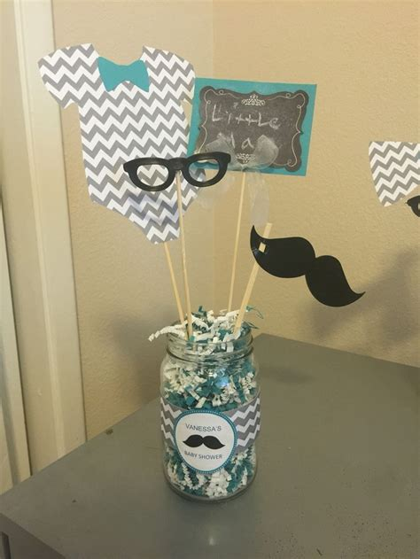 Mustache And Tie Baby Shower Decorations by Bow Tie Mustache Baby Shower Centerpieces Adastra