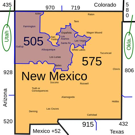 area codes area code 505 wikipedia