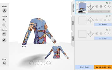 design your own team jacket online turn art into merchandise with full bleed prints start