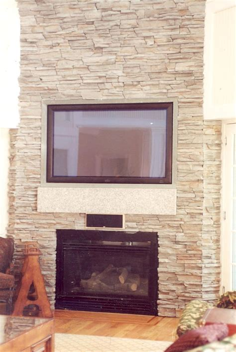 stone fireplace wall custom stone fireplace tv wall s d m custom finish