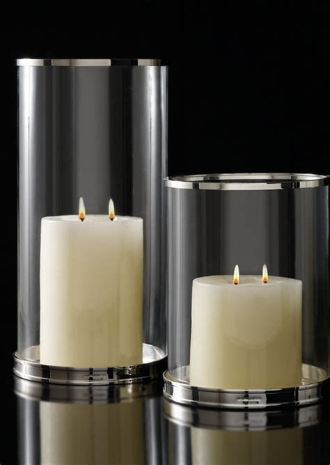 Candle Wall Sconce Set Silver Modern Hurricane Modern Candleholders By