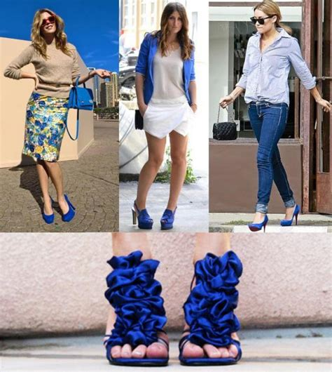 what to wear with blue shoes onehowto