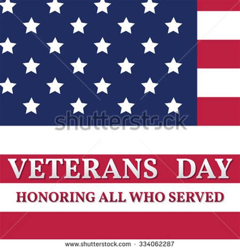 Happy Veterans Day Greeting Card Template by United States Flag National Usa Patriot Stock Vector