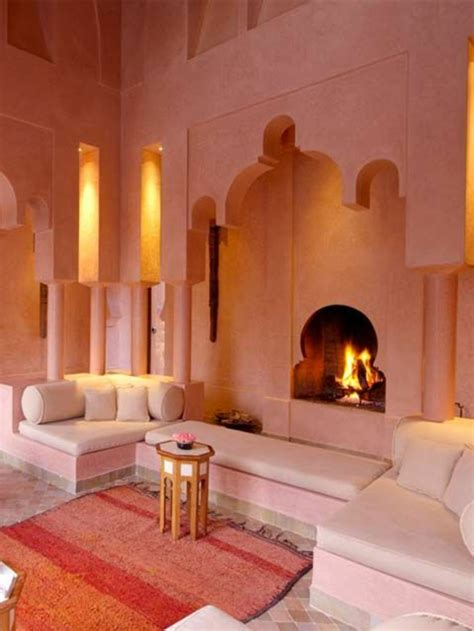 Formidable Amenager Son Salon Sejour #3: Salon-oriental-sedari-marocain-décoration-salon-moderne-cheminée-orientale.jpg