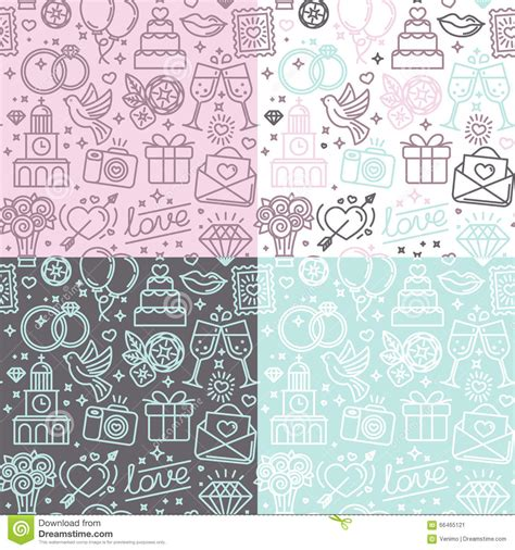 wedding banner patterns vector seamless pattern and background for wedding