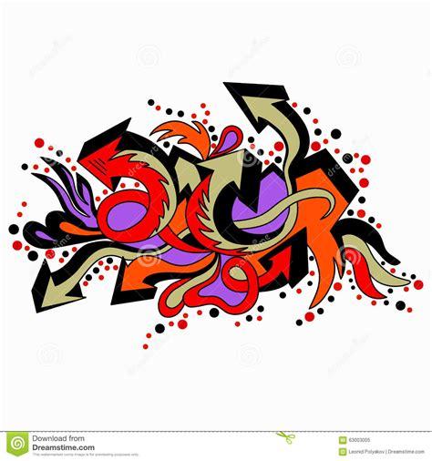 graffiti colored arrows   white background stock vector