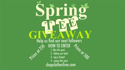Spring Giveaway - spring giveaway shop clothes free