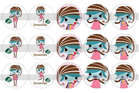 printable brownie elf girl scout brownie elf clip art