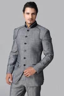 Navy Drape Dress Modern 3 Piece Suits For Men Three Piece Suit Indian