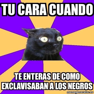 Anxiety Cat Meme Generator - meme anxiety cat tu cara cuando te enteras de como