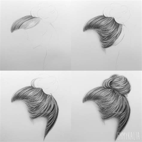hair drawing realistic hair drawing drawing sketch library