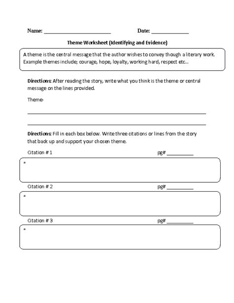 unit 6 resources themes in american stories englishlinx com theme worksheets