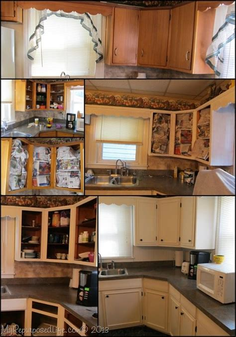 update cabinets with trim kitchen cabinets updated with paint trim my repurposed