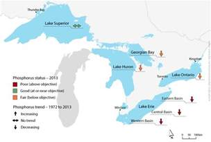 canada map great lakes environment and climate change canada environmental